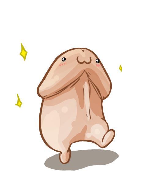 A cute cartoon walking penis