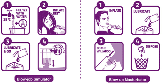 Willaboo Inflatable Masturbator Instructions